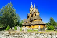 Heddal的梯级教会 库存图片