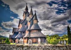 Heddal ударяет церковь, муниципалитет Notodden, Норвегию Стоковое Изображение