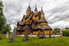 Heddal ударяет церковь, Норвегию стоковые фотографии rf