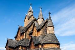 梯级教会Heddal,挪威 免版税库存图片