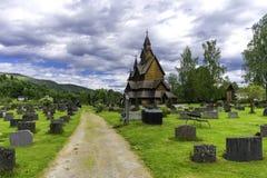 Heddal Stave Church in Norvegia Immagini Stock Libere da Diritti