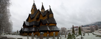 Heddal stave church  is a stave church located at Heddal in Noto Royalty Free Stock Photo