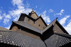 Heddal stave church, Telemark, Norway. Roof of Heddal stave church, the largest stave church in Norway Royalty Free Stock Photos