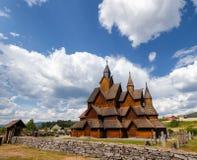 Heddal Stave Church Telemark Norway Scandanavia Immagine Stock Libera da Diritti