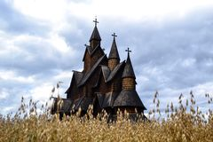 Heddal stavechurch in Notodden Royalty Free Stock Image