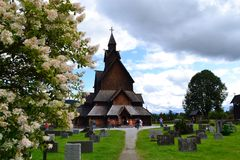 Heddal stavechurch. This Big stavechurch is in Telemark county in Norway and one of the biggest stavechurches in Norway. Alot of tourists Visit every year. A Royalty Free Stock Image