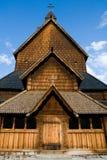 Heddal Stavkirke - iglesia del bastón en Noruega foto de archivo libre de regalías