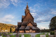 Heddal Stavkirke. In Notodden, Telemark, Norway Royalty Free Stock Image