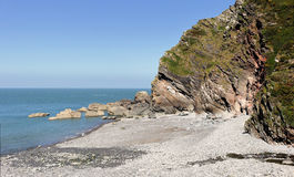 Heddon ` s usta na Północnym Devon wybrzeżu Fotografia Royalty Free