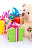 Heden en teddybeer Royalty-vrije Stock Foto