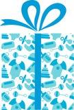 Heden met het patroon van babystoebehoren vector illustratie