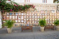 Heders- galleri av teckenen som älskade staden av jultomten Royaltyfri Fotografi