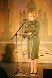 Hedersgästen Valentina Matvienko en av de mest berömda moderna kvinnliga politikerna Arkivfoto