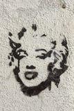 Hedersgåva av Marilyn Monroe i en gata av Granada Royaltyfri Bild