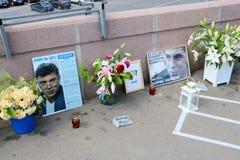 Hedersgåva till Boris Nemtsov, Moskva royaltyfri foto