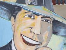 Hedersgåva till Carlos Gardel i San Telmo Market, Buenos Aires, Arge arkivfoto