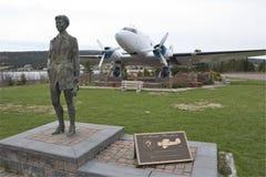 Hedersgåva till Amelia Earhart, hamnnåd, Newfoundland Arkivbild