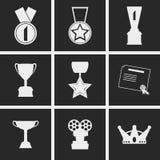 Hedersymboler royaltyfri illustrationer