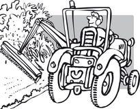 Hedge cutting Stock Image
