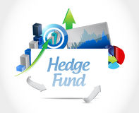 Hedge fund business chats and results icon Stock Photography