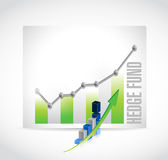 Hedge fund business results icon illustration Royalty Free Stock Photo