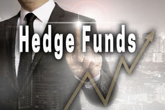 Hedge funds is shown by businessman concept.  Royalty Free Stock Images
