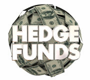 Hedge Funds Stock Market Money Investment Strategy 3d Illustrati. On Royalty Free Stock Image