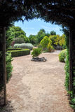 Hedge Maze Exit. MARGARET RIVER,WA,AUSTRALIA-JANUARY 16,2016: Hedge maze exit at the Amaze'n Margaret River with manicured botanical gardens in Margaret River Stock Photography