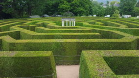 Hedge maze. A large hedge maze located in South Wales Stock Photos