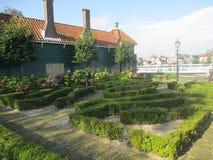 Zaanse Schans. The hedge maze, Zaanse Schans, Holland stock photography