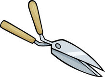 Hedge scissors clip art cartoon illustration Royalty Free Stock Image