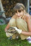 hedgehog девушки Стоковая Фотография