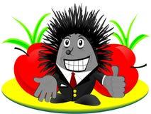 счастливый hedgehog Стоковые Изображения