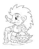 Hedgehog. Illustration of the hedgehog worker Royalty Free Stock Image