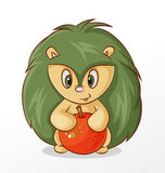 Hedgehog with apple Royalty Free Stock Photos