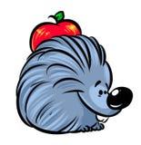 Hedgehog  apple cartoon illustration Stock Photography