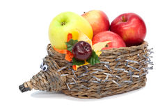 Hedgehog with apples Royalty Free Stock Images