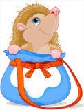 Hedgehog in Bag royalty free stock image