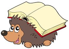 Hedgehog with book Royalty Free Stock Photography