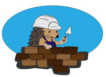 Hedgehog builder stock illustration