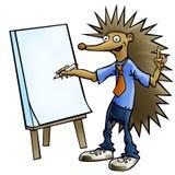 Hedgehog businessman Royalty Free Stock Image