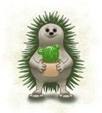 Hedgehog and cactus vector illustration