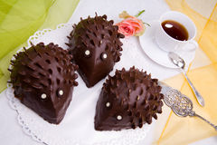 Hedgehog cake Stock Images