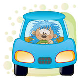Hedgehog in a car Stock Images