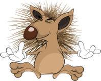 Hedgehog. Cartoon Royalty Free Stock Images