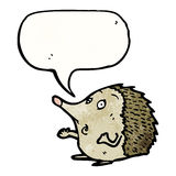 hedgehog cartoon character with speech bubble Royalty Free Stock Photos