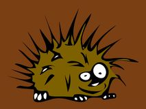 Hedgehog cartoon. The Hedgehog cartoon character drawings Royalty Free Stock Photos