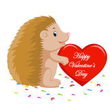 Hedgehog cartoon. Illustration of cute hedgehog cartoon Royalty Free Stock Photo