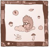 Hedgehog on a cloud Royalty Free Stock Photography