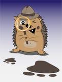 Hedgehog detective stock illustration